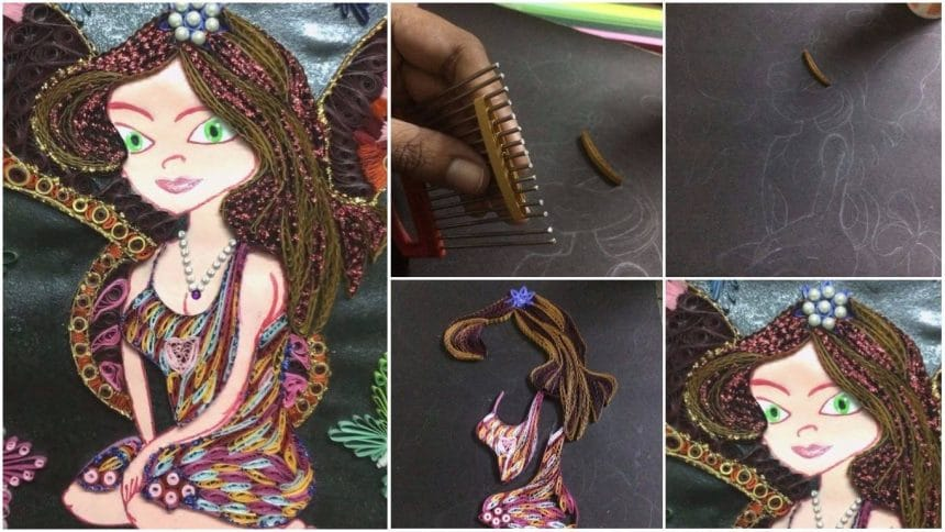 How to make quilled fairy wall hanging