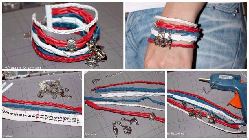 Make a bracelet made of leather