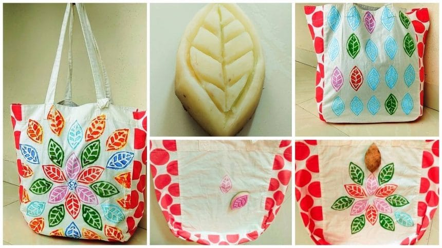 How to make block painting bag