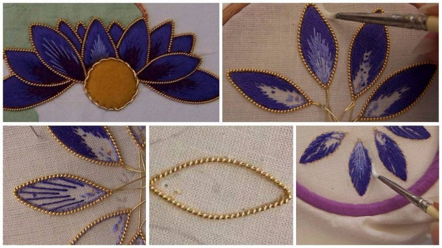How to make gilt edged detached petals