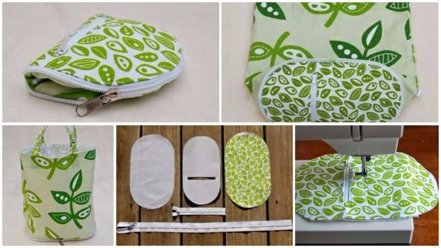 How to make original collapsible bag of beautiful fabrics