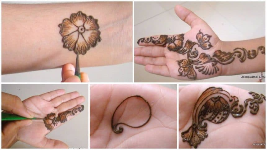 How to mehndi design on hands