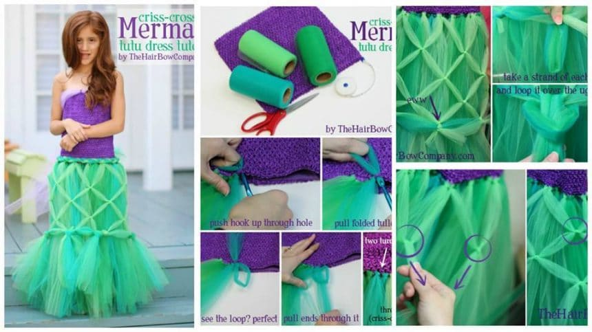 How to make mermaid tutu dress