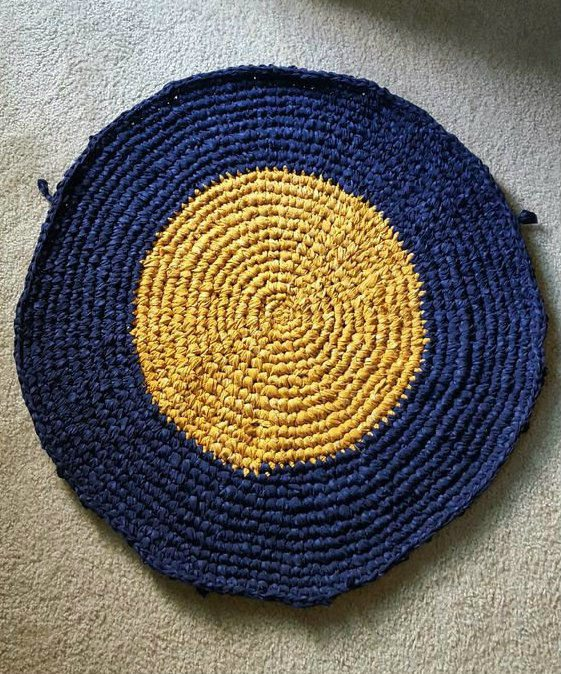 How To Make Circular Rag Rug From Crocheted