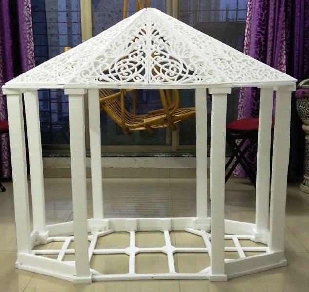 thermocol decorative temple