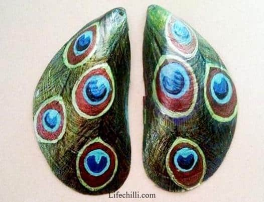 mussel shell earrings