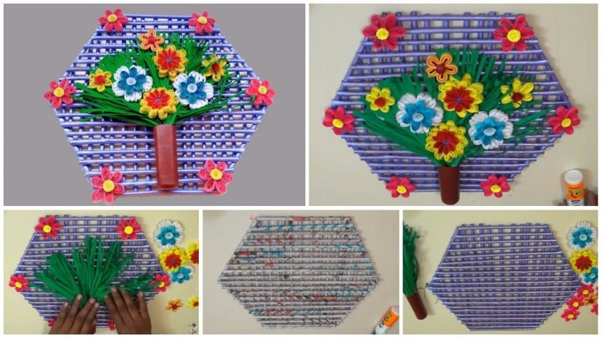 Paper Quilling Wall Hanging Design For Room Decoration Simple