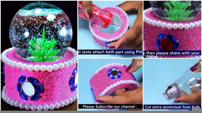 How to make snow globe from waste fuse bulb