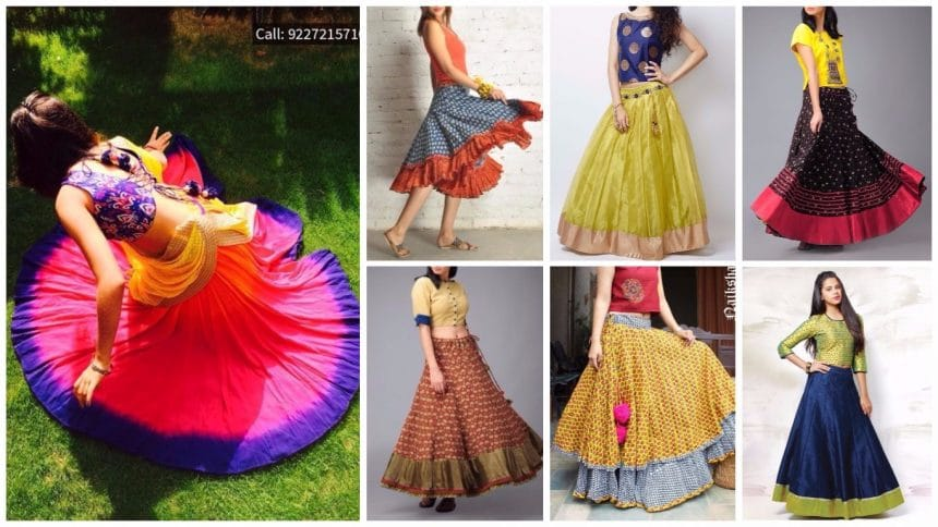 Different types of cotton skirt
