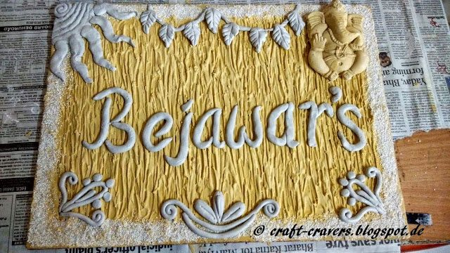 How to make mural name plate - Simple Craft Ideas
