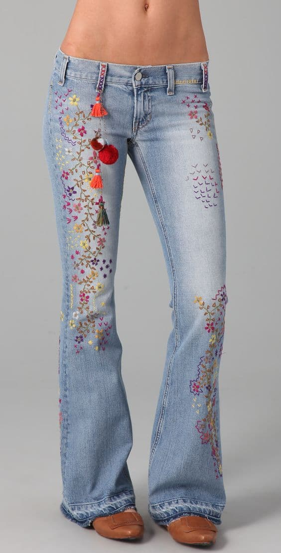 Embroidery For Old Jeans Simple Craft Ideas