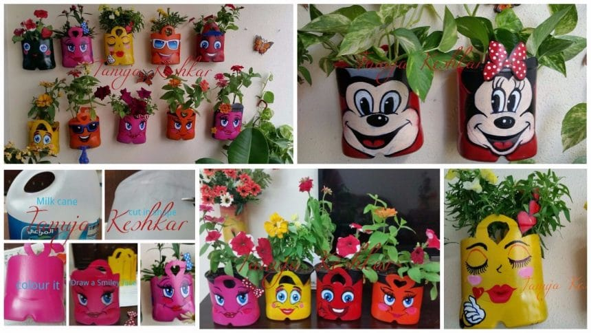 Smiley hanging pot