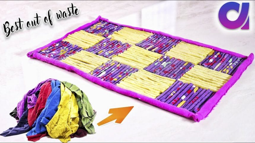 old clothes craft ideas how to reuse your clothes to make rugs simple craft 5047
