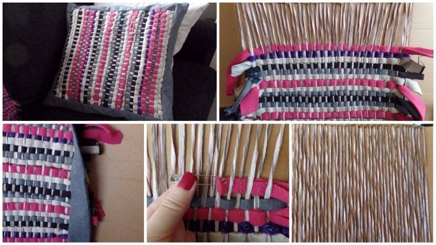 How to weaving on cardboard
