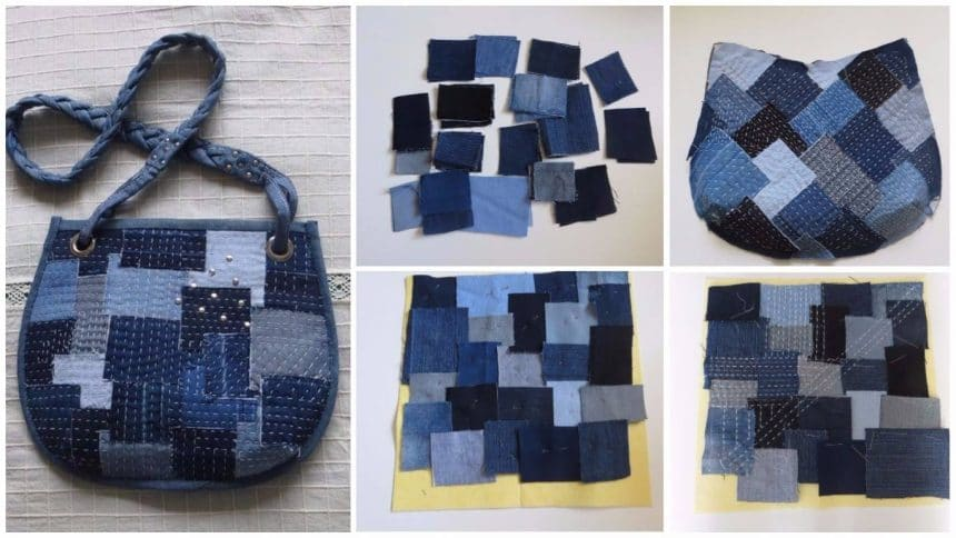 How to sew a denim handbag
