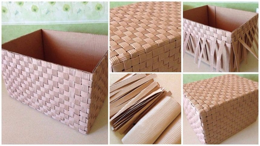 How to make cardboard box made of cardboard