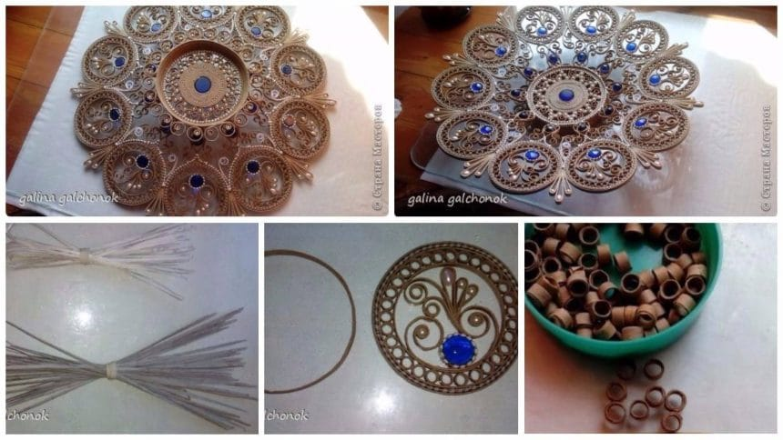 How to make paper dish for wall art