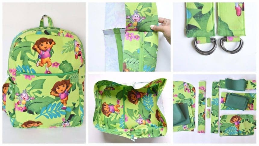 How to sew a  toddler backpack
