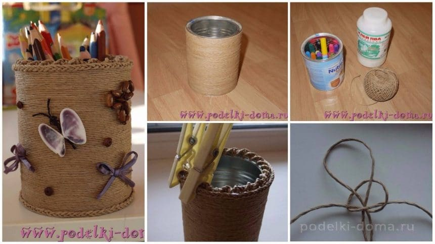 How to make pencil case from jar