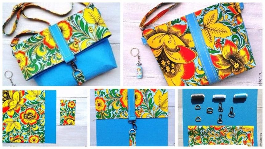 How to sew a bag-clutch from colour felt