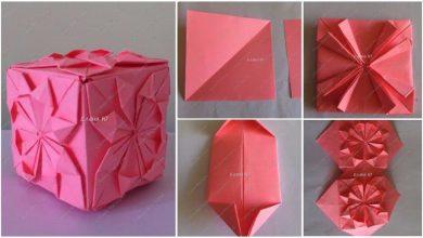 origami flower cube