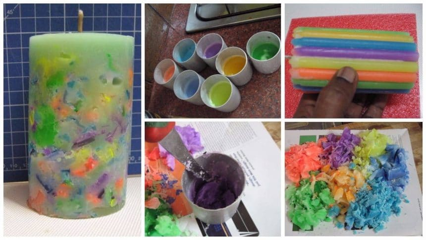 How to make rainbow candles