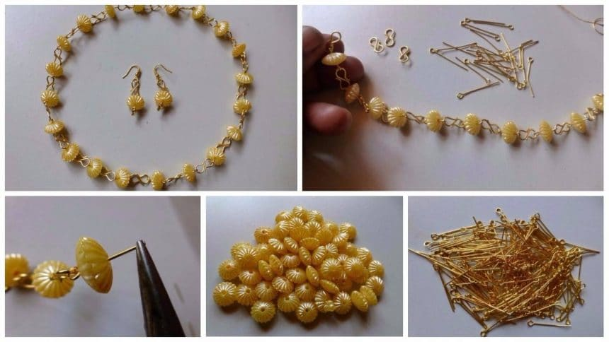 How to make crystal beaded necklace