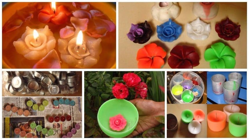 How to make beautiful candles