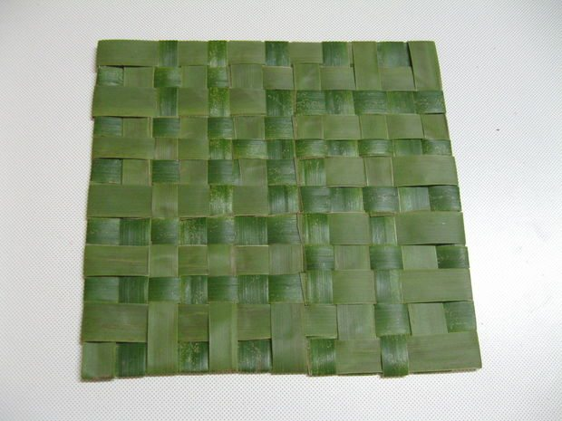 How To Weave A Small Mat From Coconut Leaves Simple