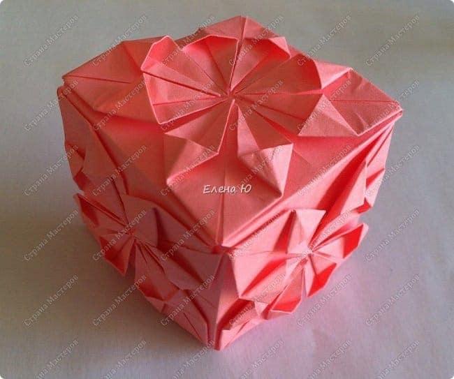 Simple craft idea origami flower cube mightylinksfo