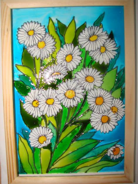 Painting with stained glass paints