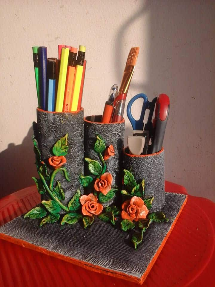 How to make organiser from clay art