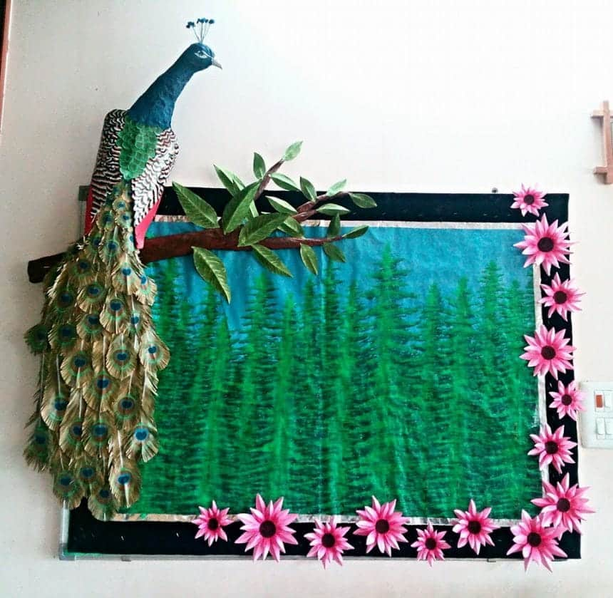 How To Make Peacock Wall Art Simple Craft Ideas