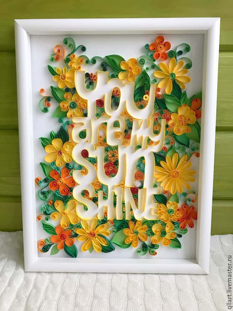 handmade poster in a contour quilling technique