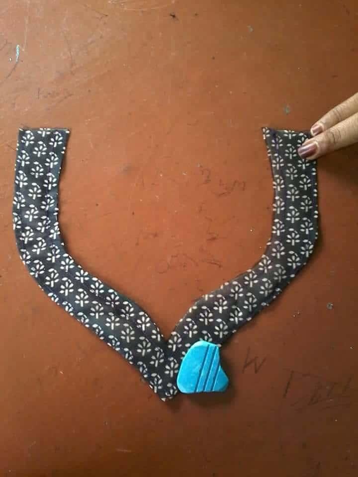 simple kurti neck