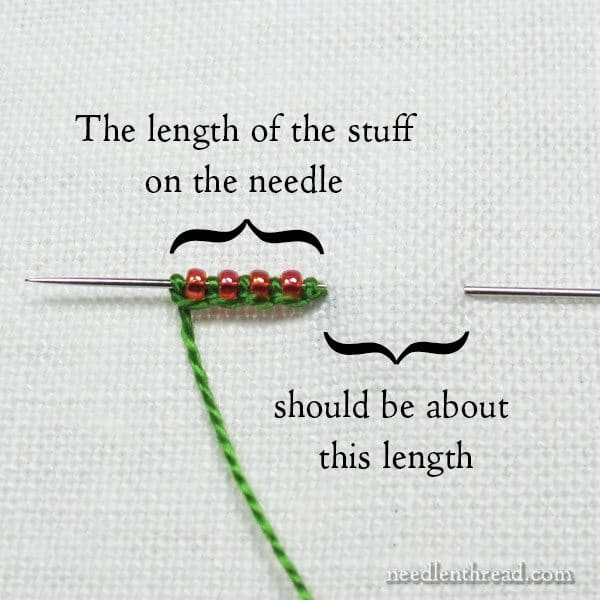 beads to embroidery stitches