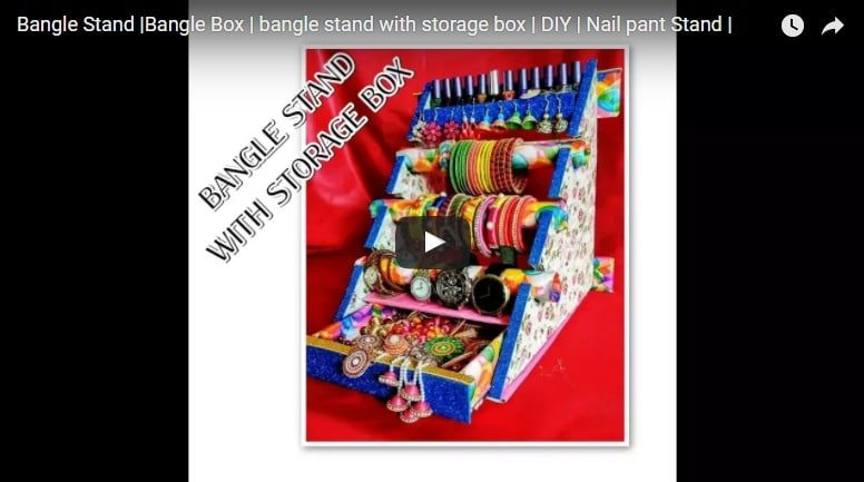 How to make bangle stand with storage box