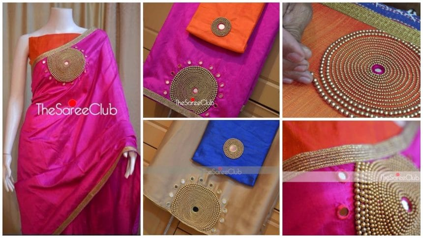 How to make designer saree