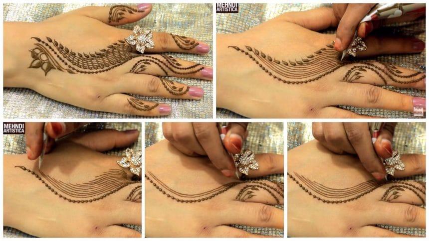 Trendy henna mehendi art