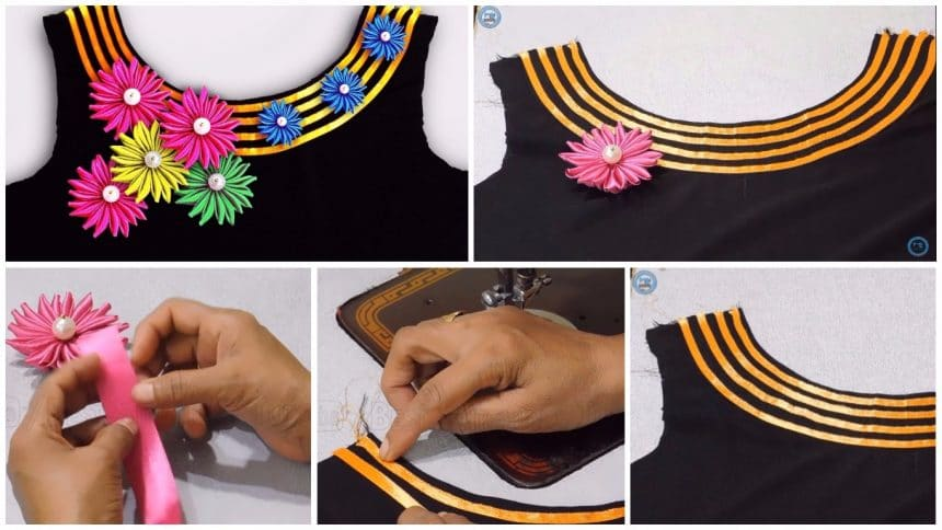 How to sew a boat neck design kurtha