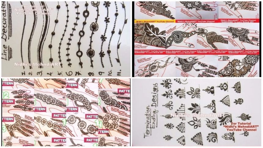 Different termination ending henna designs tutorial