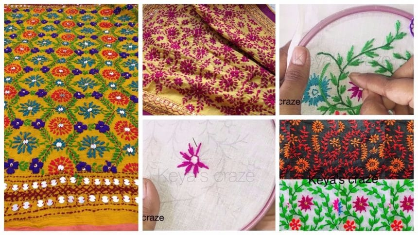 How to make phulkari work dupatta