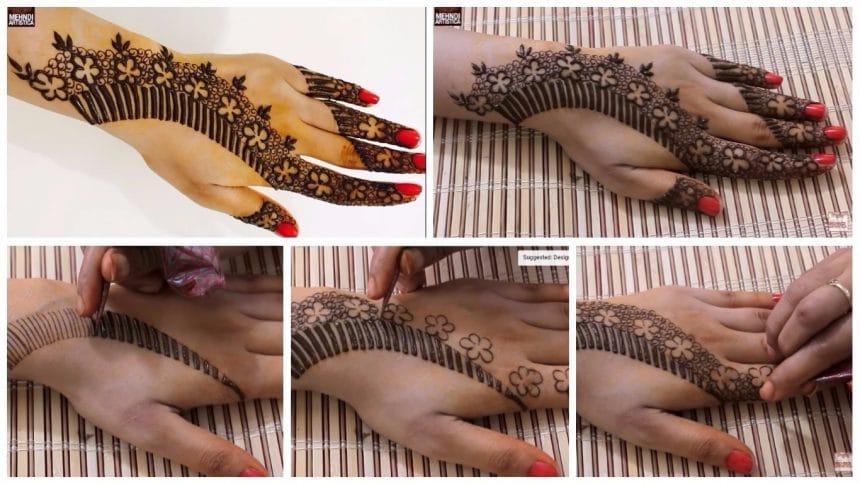 Unique floral mehndi designs for hands