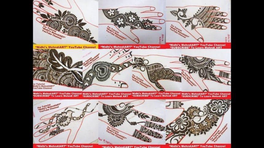 Different Termination Ending Henna Designs Tutorial Simple Craft Ideas