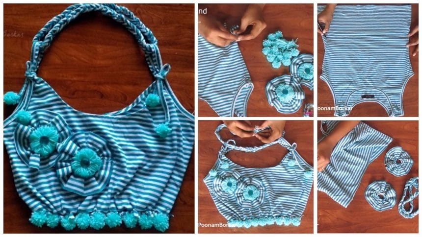 How to make bag from old t-shirt
