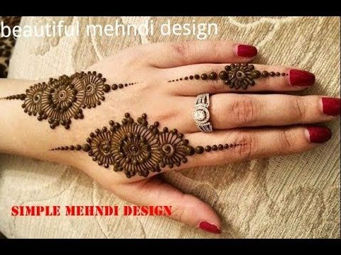Quick And Easy Mehndi Design Tutorial Simple Craft Ideas