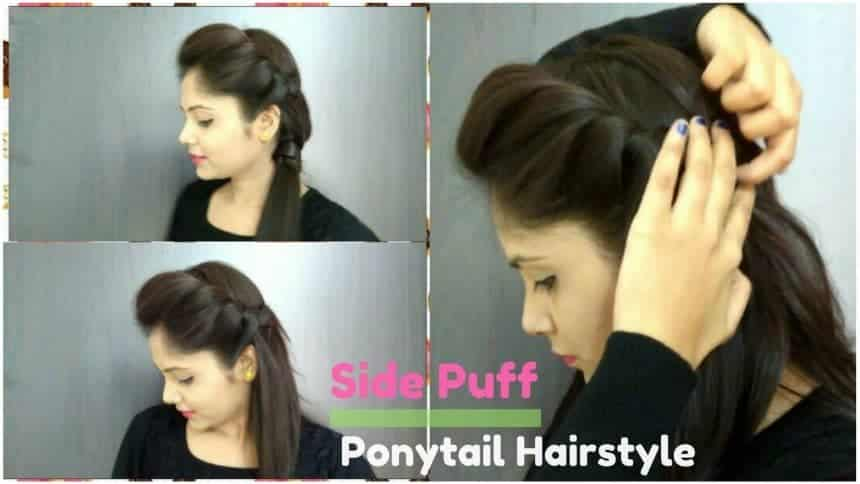 Title- How To Do Side Puff In Ponytail Hairstyle | Easy Side Puff for medium/long hair In this video, I will show you how to do a side puff with a ponytail in your hair. This hairstyle is suitable for long hair or medium length hair with extensions.  Check out the full video and try this hairstyle on your own hair with given steps and comment below your reviews on it !  This hairstyle is super easy & quick, So do try it out in party or wedding functions & Enjoy it in your summer too. side puff hairstyle is an awesome hairstyle to make your look cute and pretty !! It is perfect for all types of hairs, long, curly, wavy or straight, etc.