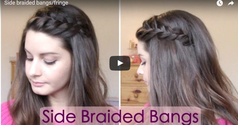 hair style fringe side braided bangs hairstyle simple craft ideas 8265
