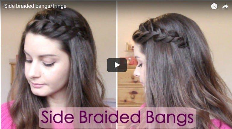 Side braided bangs