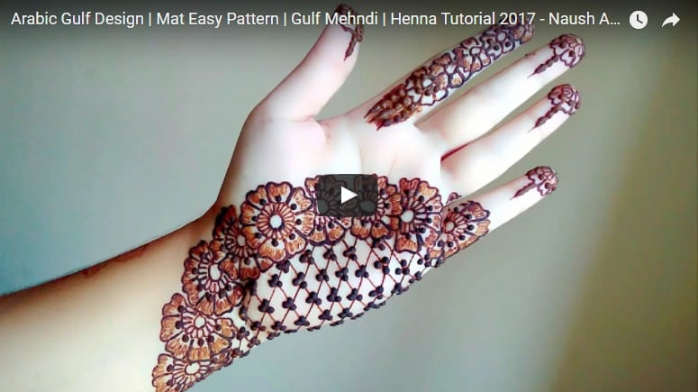 Arabic design henna tutorial